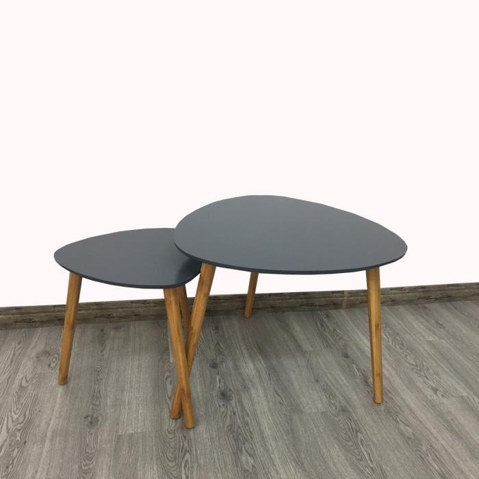 Table basse gigognes scandinave