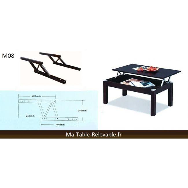 Système table basse relevable