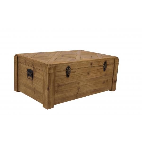 Table basse malle bois