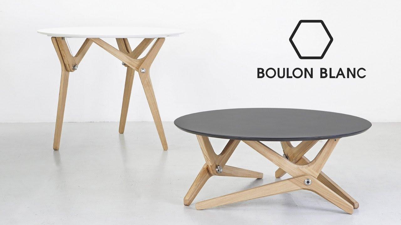 Table basse relevable archimede