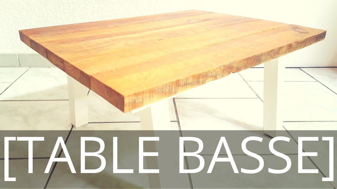 Table basse de salon de jardin bois
