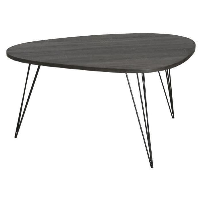 Table basse scandinave noir avesta