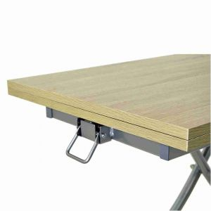 Table basse relevable extensible chene clair