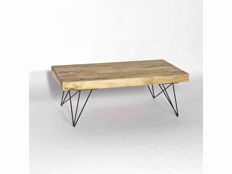 Table basse bois massif unique