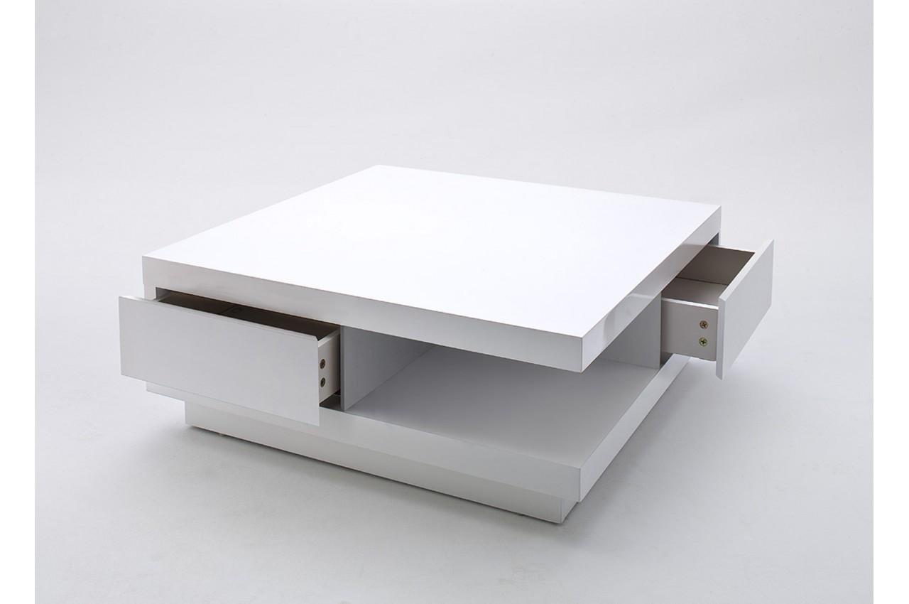 Table basse laqué avec rangement