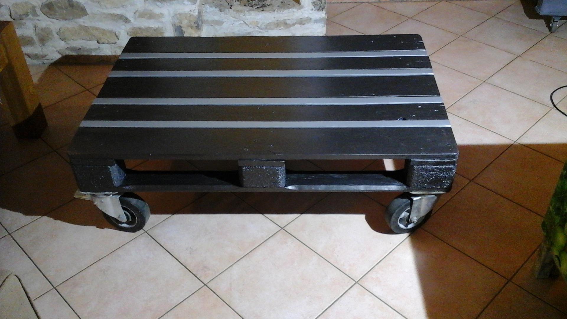 Table basse palette gris