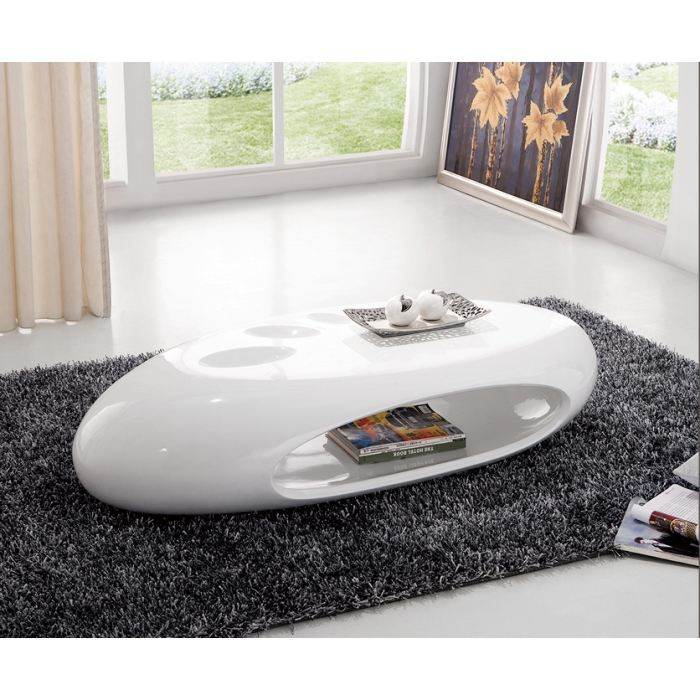 Table basse ovale blanche alinea