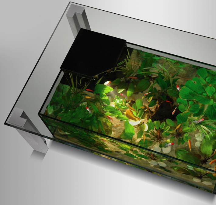 Pompe aquarium table basse