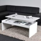 Table basse transformable avec plateau relevable