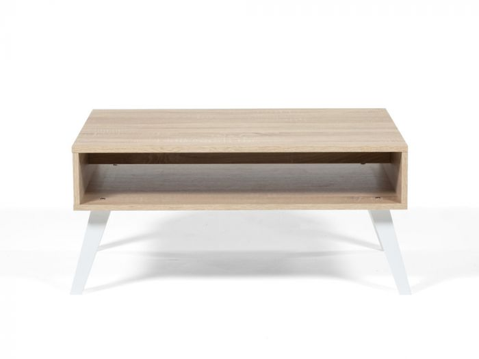Table basse scandinave avec niche