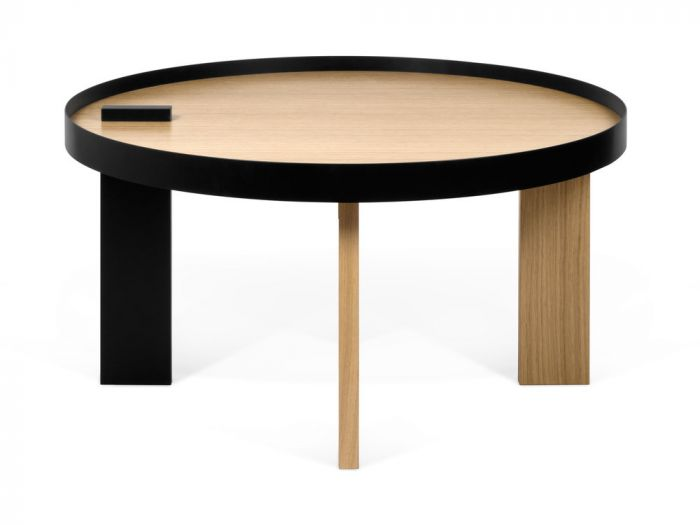 Table basse boule bois