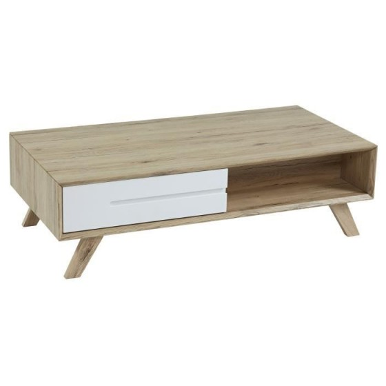 Table basse scandinave blanc mat