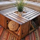 Table basse bois nature