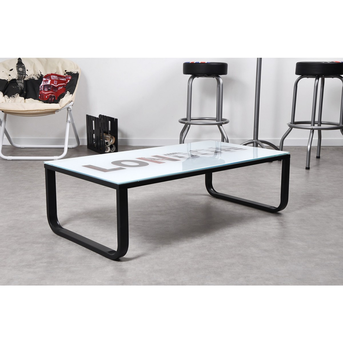 Table basse en verre london