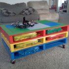 Peindre palette table basse