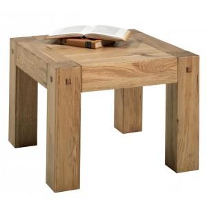 Table basse carrée en bois exotique