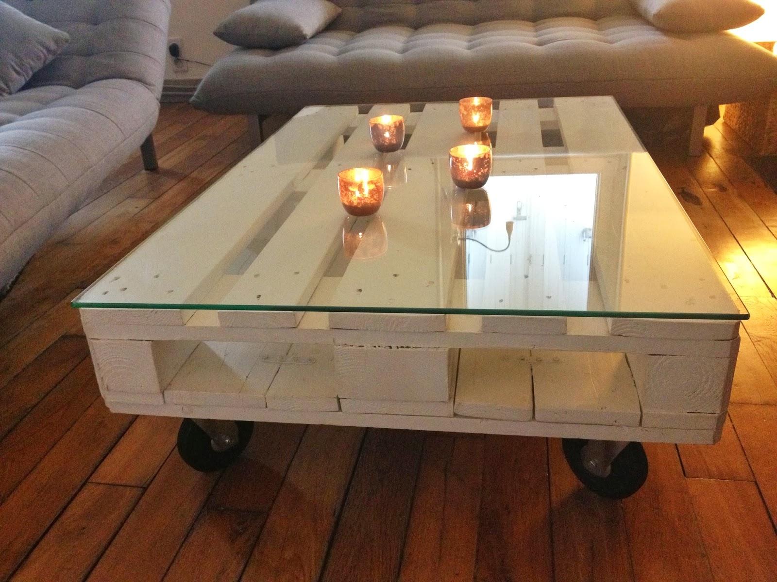 Table de basse en palette