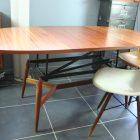 Table basse relevable scandinave vintage