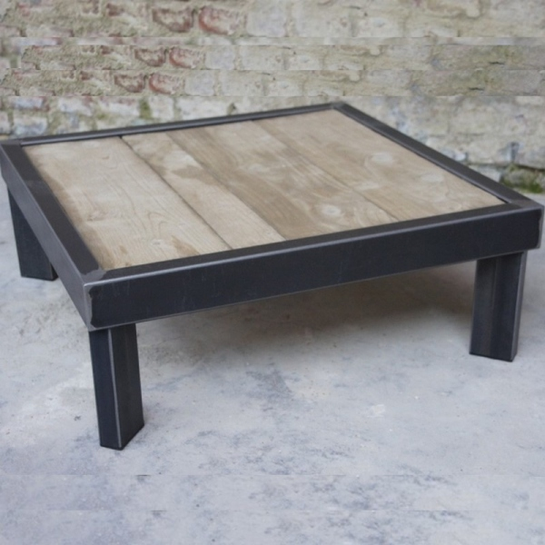 Table basse palette beton