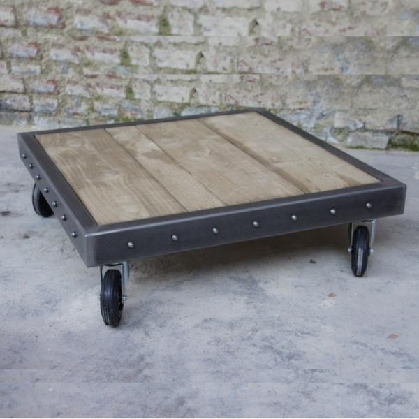 Roulettes table basse palette