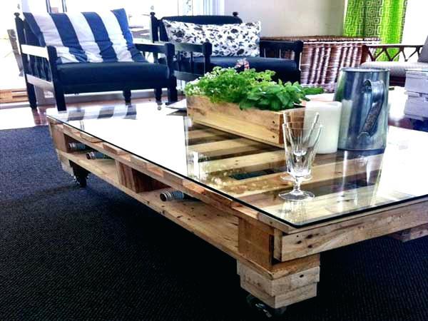 Table basse palette ferraille