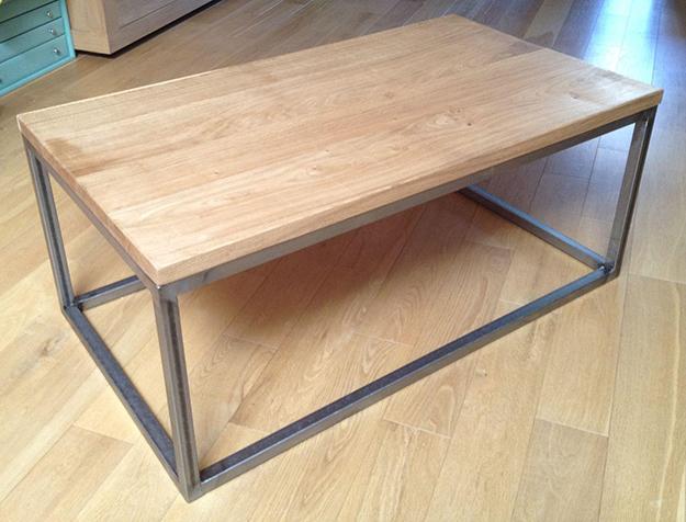 Table basse acier bois fabriquer