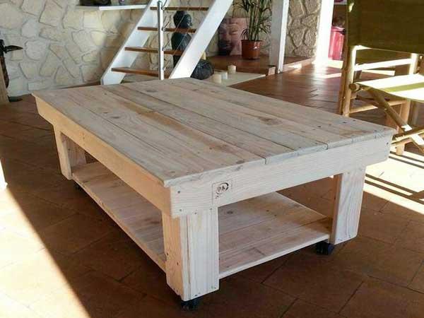 Table basse jardin avec palette