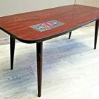 Table basse scandinave pied compas