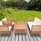 Table basse en bois d'eucalyptus