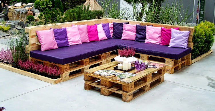 Table basse de jardin en palette facile