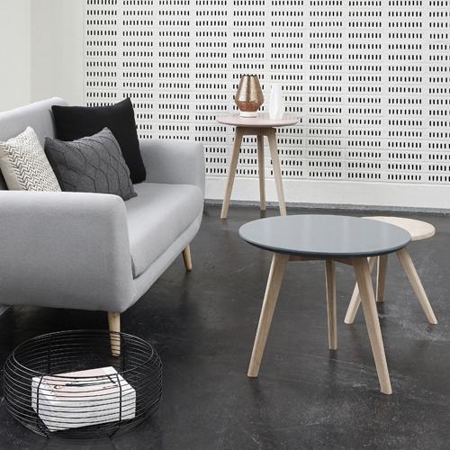Table basse scandinave motif