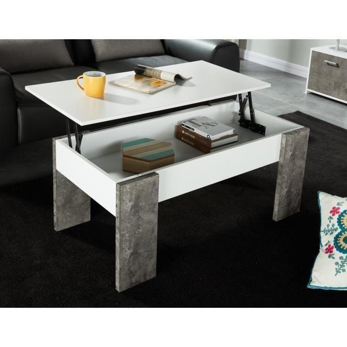 Table basse avec panneau relevable