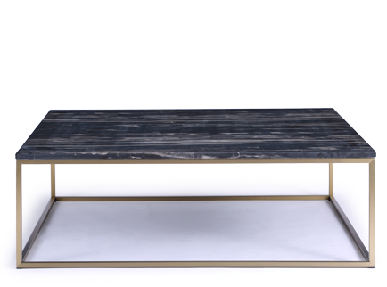 Table basse marbre noir