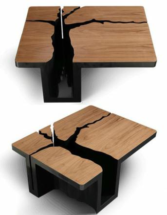 Table basse bois solde