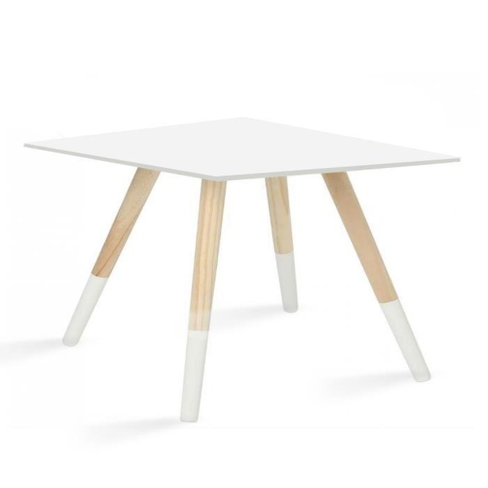 Table basse bois pieds bois