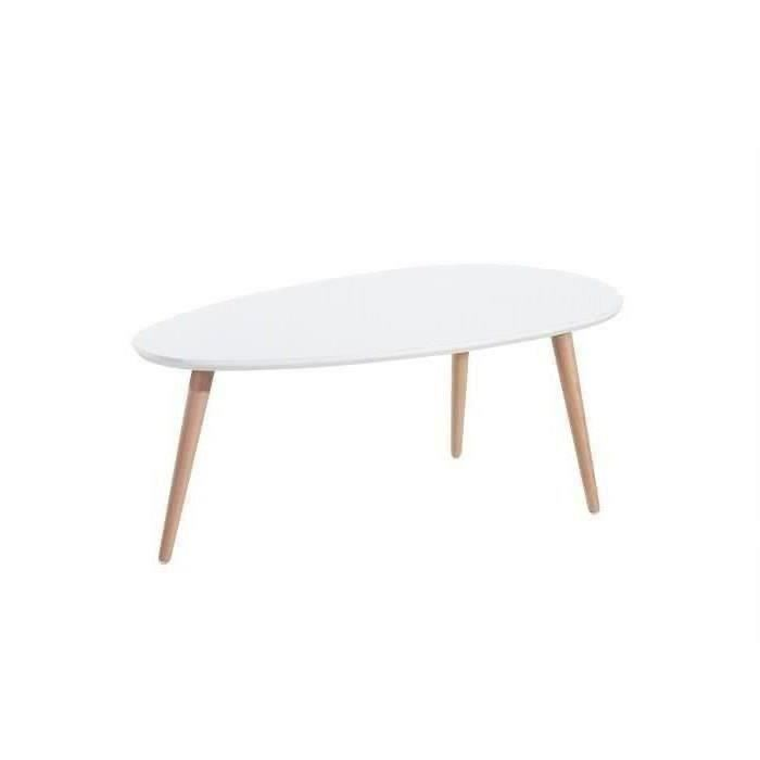 Table basse laqué blanc scandinave
