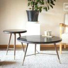 Table basse scandinave grise (lot de 2)