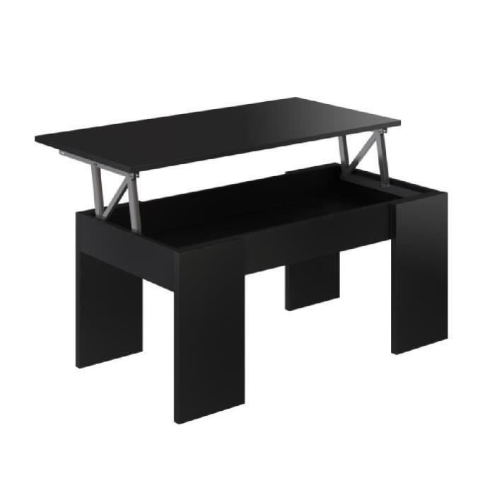 Table basse relevable 2 couverts
