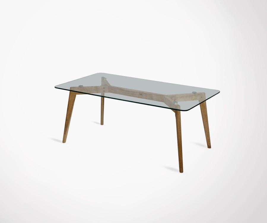 Table basse bois metal style scandinave
