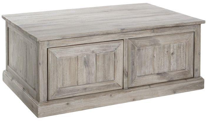 Table basse en bois ceruse