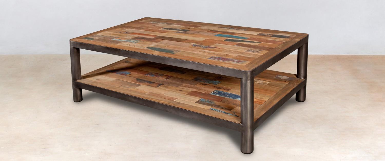 Table basse bois 120 cm