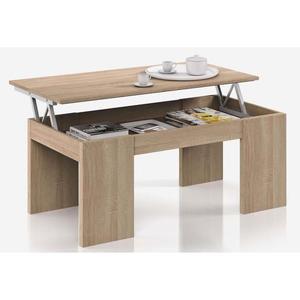 Table basse plateau relevable ronde