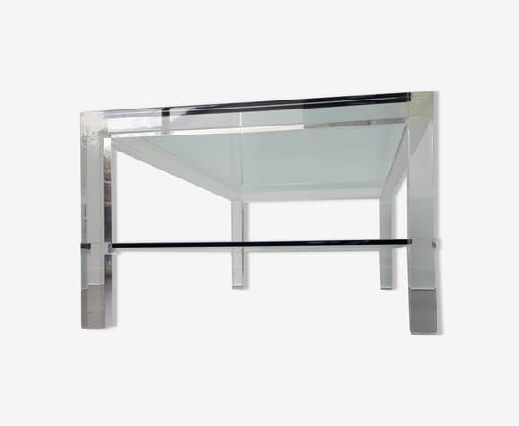 Table basse en verre david lange