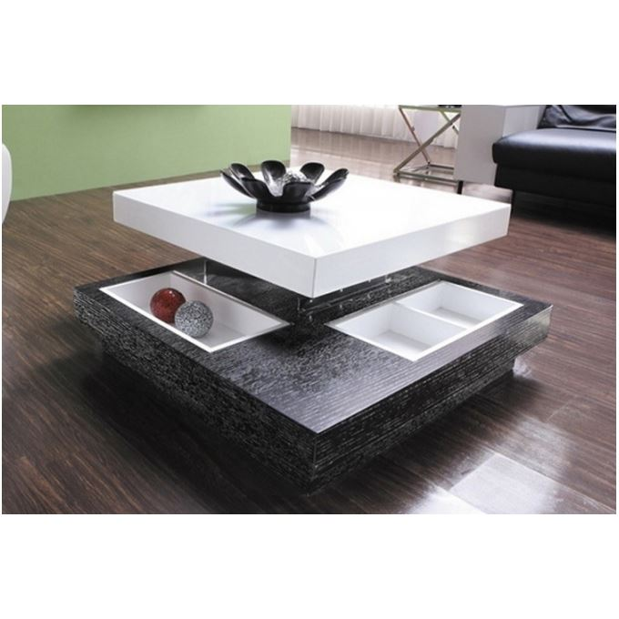 Table basse relevable domino