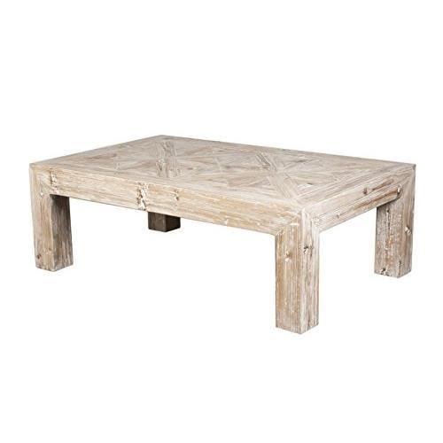 Table basse bois cloutée
