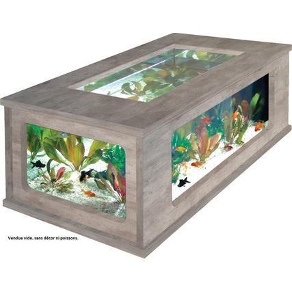 Table basse designe avec aquarium