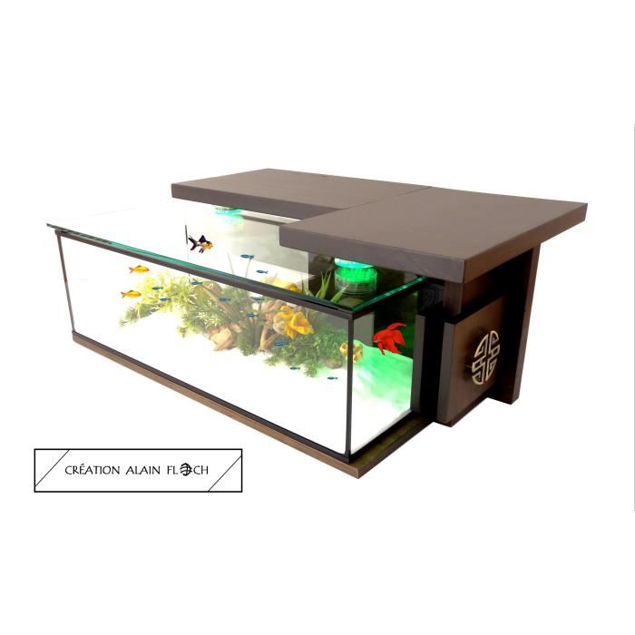 Table basse en aquarium