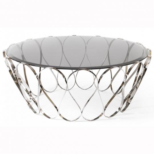 Table basse en verre originale