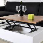 Table basse coffre plateau relevable