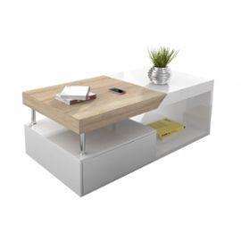 Table basse laqué et bois